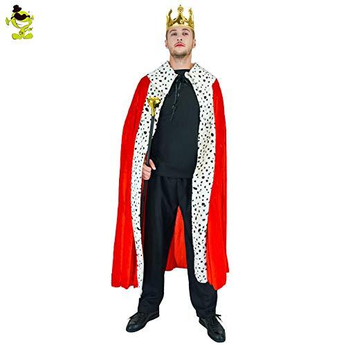 GAOGUAIG AA Männer Luxus König Kostüm Mit cape & crown for Erwachsene Herren Rollenspiel Party Leistung for Halloween Party Cosplay König Kostüme SD (Color : Onecolor, Size : Onesize) (Der Kürbis König Kostüm)