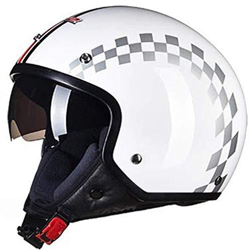 Oevina Fahrradhelm Helm Motorrad Sonnenbrille Hutkrempe (Farbe : Black L)