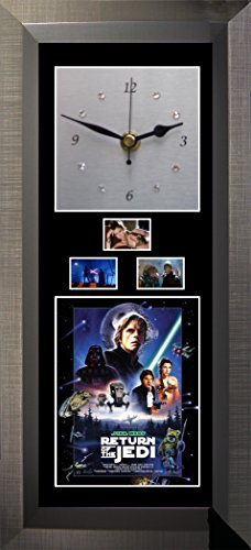 Film Cells Direct Wanduhr Star Wars - Return of The Jedi - Silent Sweep mit Swarovski-Kristallen Ein Film Cell