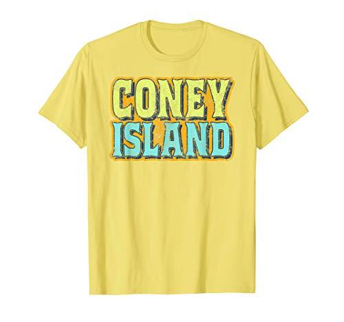 Herren Coney Island (Coney Island NYC T-Shirt | Retro Distressed Brooklyn tee)