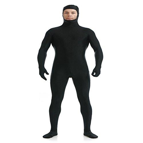 MagiDeal Ganzkörperanzug Anzug Bodysuit Kostüm Spandex Zentai Anzug Suit Kostüm Bodysuit Catsuit Hauteng Kostüm - Schwarz, S (Schwarze Spandex Bodysuit Kostüm)