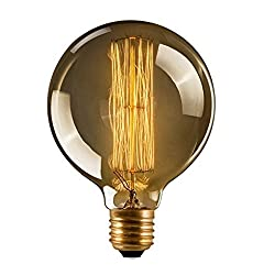 Cmyk® Dimmable Vintage Light Bulb Retro (Edison Style) E27 Screw - Spiral Globe'