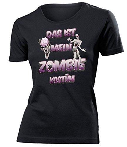 Zombiekostüm Zombie Kostüm Kleidung 5235 Damen T-Shirt Frauen Karneval Fasching Faschingskostüm Karnevalskostüm Paarkostüm Gruppenkostüm Schwarz XL