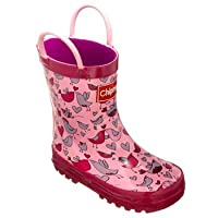 Chipmunks Girls Boston Wellington Boots