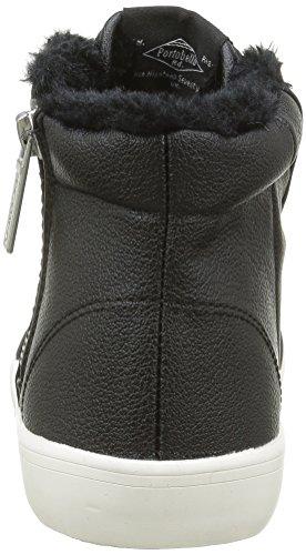 Pepe Jeans Damen Clinton Fur High-Top Schwarz (Black 999)