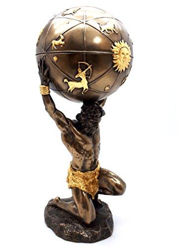 Atlas Titan Esfera Celeste Dios Griego Estatua Escultura