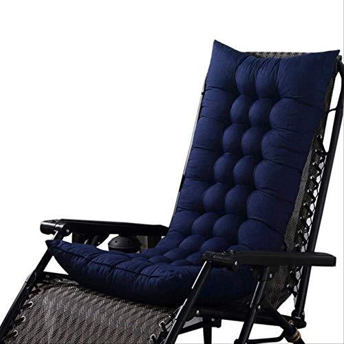 AINIYUE Sitzkissen, rechteckige Sitzpolster Erkerpolster, getuftete Omega Patio Möbel Universal Lounge Chair Kissen 110x40cm blau -