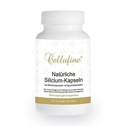Cellufine® natürliches Silizium aus Bambus 75 mg - mit Ackerschachtelhalm und Teffhirse - 120 vegane Kapseln