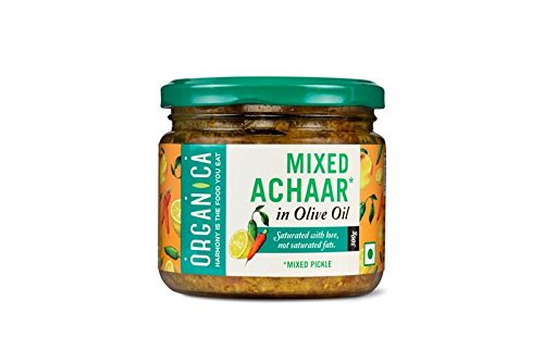 Organica Olive Oil Mixed Pickle, 300g  available at amazon for Rs.89