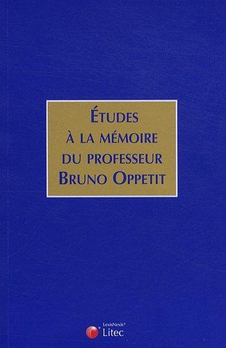 Etudes à la mémoire de Bruno Oppetit par Collectif Litec