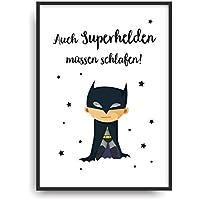 Kunstdruck SUPERHELD Poster Bild ungerahmt DIN A4 Geschenk