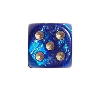 Philos 12mm Dados en Bolsa de plástico, Juego de, Pearl (Azul)