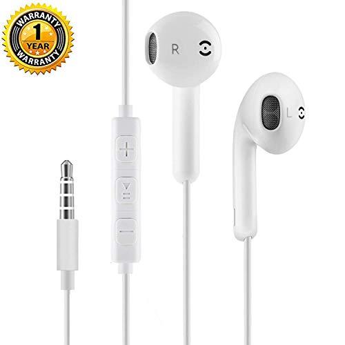 Kopfhörer,Stereo Kopfhörer In Ear kompatibel mit Huawei/Samsung/HTC und allen 3,5mm Jack Android Smartphones, geräuschisolierende Kopfhörer mit Mikrofon und Fernbedienung (1 Packung) Htc-stereo