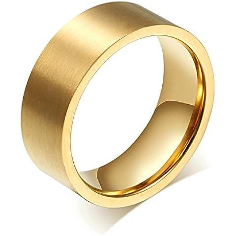 Alimab gioielli anelli donne inox acciaio Banda nozze pianura
