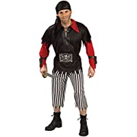 Adulto Pirata re costume. Dimensioni standard per adulti. Top, pantaloni,