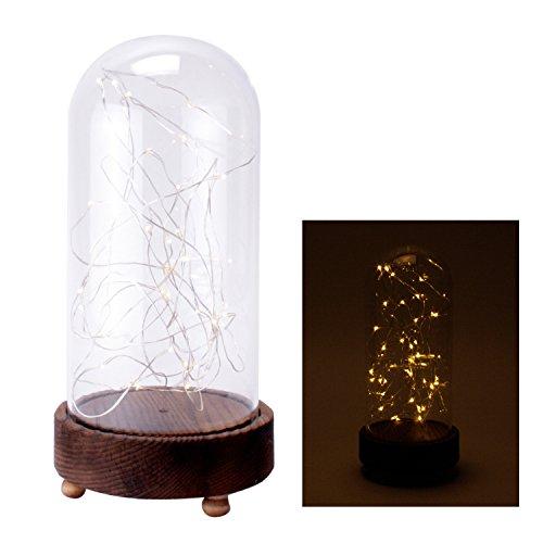 Campana de cristal (lámpara de mesa Luz Cadena Navidad iluminación c