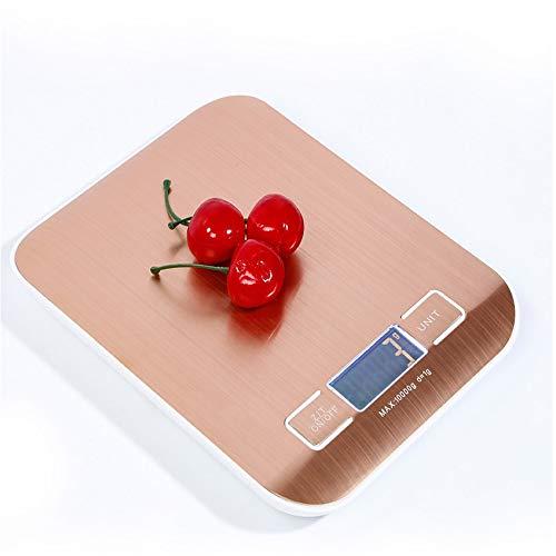 DuDuDu Super Slim INOX Kitchen Scale Or LCD numérique électronique Balance Poids des Aliments Alimentation Cuisson Outil Balance 10 Kg x 1 g