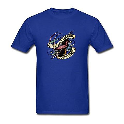 UKC5BD Herren T-Shirt Gr. M, Blau - Königsblau (Bob Dylan The Man In Me)