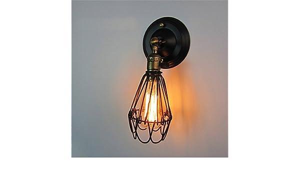 Hy&ob vintage luce da parete a parete industriali applique nero