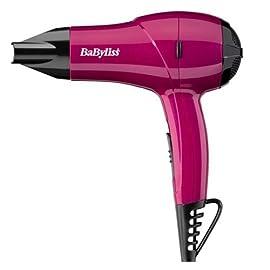 hairdryer - 41yUxgUuMdL - Babyliss Dual Voltage Nano Hairdryer, 1200 W – Pink