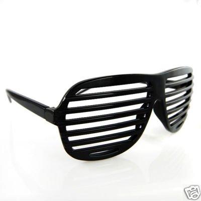 Accentor Schwarz Verschluss Schattierungen Spaß Neuheit Kunststoff Party Sonnenbrille