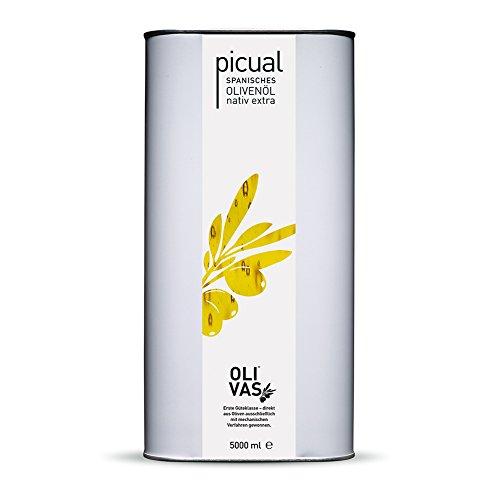 OLIVAS picual / 5000 ml (Kanister) * spanisches Olivenöl nativ extra aus 100{aab054c57f2e5c6706a340a962255e0ee8768854d1cc1b315d6a37302d22fccf} Picualoliven