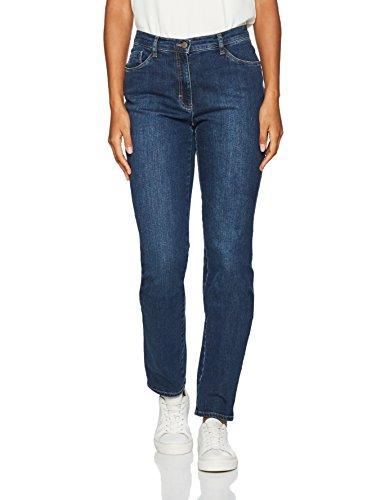 BRAX Mary Crystal Romance Damenjeans: Slim Fit Jeans im 5-Pocket-Style, Blau (Used Regular Blue 25), Gr. W32/L32 (Herstellergröße: 42)