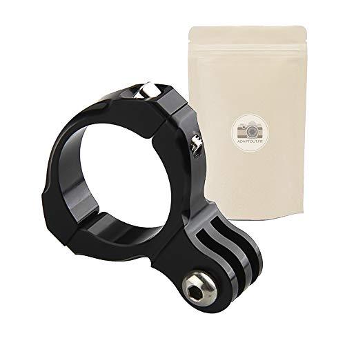 Soporte de fijación para GoPro o cámara de acción en el manillar. Adaptador de metal. Pinza de 31,5 mm.