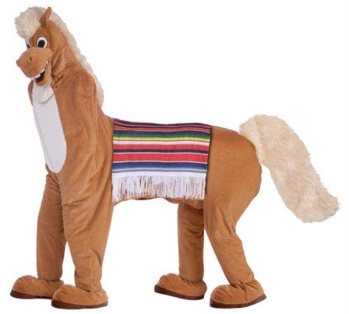 Herren Deluxe Plüsch-Mann-Pferd Kostüm