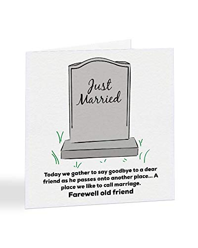 """Funky NE Ltd A5090 Glückwunschkarte zur Hochzeit, englische Aufschrift""""Just Married"""" (englischsprachig), erhältlich als Einzelkarte oder als 5er-Packung, 5 Stück"""