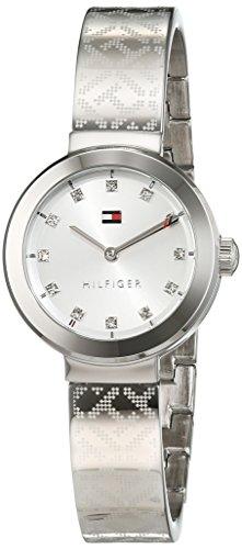 Tommy Hilfiger Damen Analog Quarz Uhr mit Edelstahl Armband 1781714