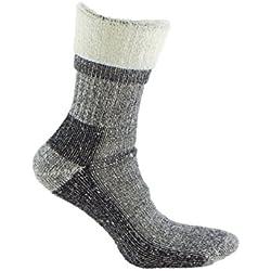 Calcetín de LANA MERINO de TREKKING, con costuras técnicas para deportes de invierno (esquí, running, senderismo, ...) o situaciones de frío y humedad. Ideales para el uso con botas de montaña (39-42)