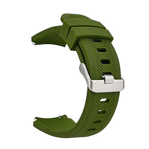 MroTech 22 mm Cinturino di Ricambio compatibile per Samsung Gear S3 Frontier/ Galaxy Watch 46mm/ Huawei watch 2 classic/ GT/...