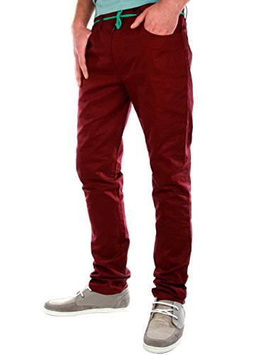 Iriedaily Slim Shot Pantaloni Blu Marino Rosso