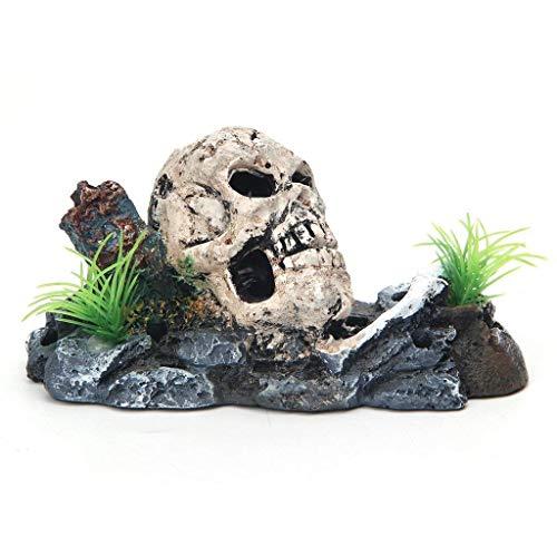 Hemore Skull Skeleton Aquarium O...