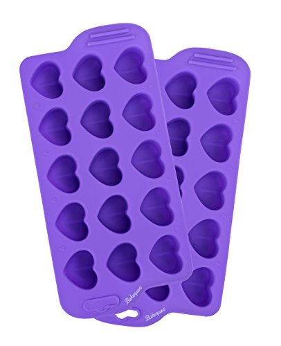 okolade Schimmel, 2,5cm Herz Formen, Jello und Ice Tablett, Candy Form, 15Mulden violett ()
