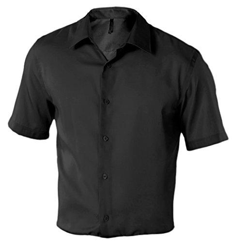 Bügelfreies Herren Kurzarm Hemd Supreme - 120 g/m² - Unisex Black