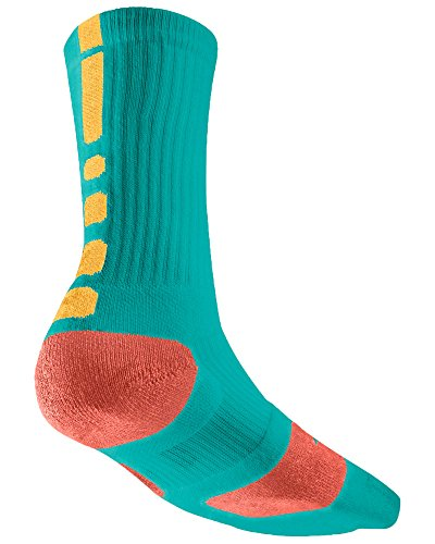 Nike Crew Socks Hyperelite Basketball Turbo Green / Atomic Melon