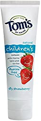 4 Pack - Toms Of Maine Childrens Natural Fluoride Free Toothpaste, Silly Strawberry 4.20 oz