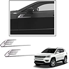 Vheelocityin Long Style Euro Duct Car Scoop Decorative Side Vent for Jeep Compass