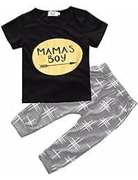 lsv-8moda infantil bebé recién nacido niños Baby Boy ropa camiseta Tops + Pants Trajes Set