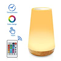 Aisuo Led Night Light, Remote and Touch Control Bedside Lamp with 13 Colors, 1600mAh Rechargeable Lithium Battery, Ideal Nursery Lamp for Kids, Children, Friends. (M4)