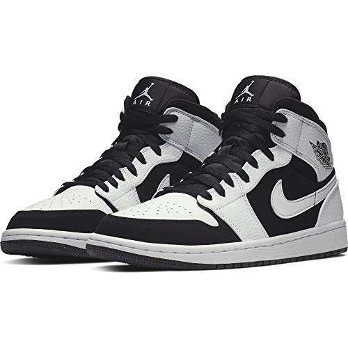 Blackwhite 1 FitnessschuheWeiß Eu Herren Jordan 11344 Air Nike Mid 2IEDH9WY
