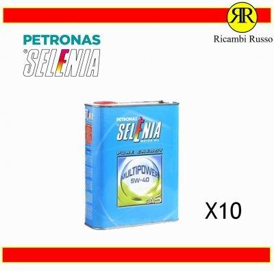 OLIO MOTORE AUTO SELENIA PETRONAS 5W40 MULTIPOWER GAS LITRI 10