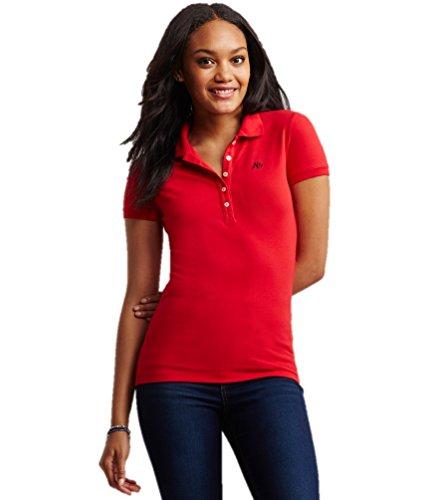 Aeropostale Women's Polo Shirt Small Red 692a (Polo-shirts Aeropostale)
