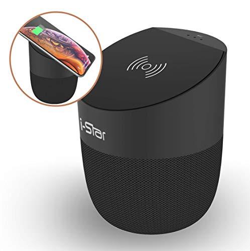 Tragbarer Bluetooth-Lautsprecher kabelloses Ladegerät, Qi-Ladepad, kabelloser Bluetooth-Lautsprecher für iPhone X/8/8plus, Samsung Galaxy S9/S9Plus/S8/S8Plus und viele andere Geräte