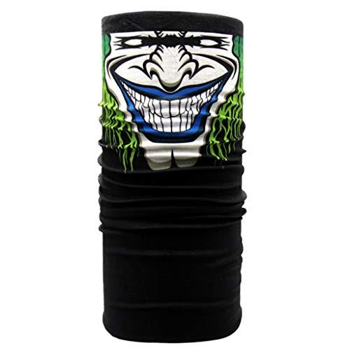 ruiruiNIE 24x49 cm Unisex Motorrad Stirnband Rohr Turban Maskerade Halloween Ghost Joker Magie Bandana Halstuch Wärmer Winddicht Gesichtsschutz Maske - B # -