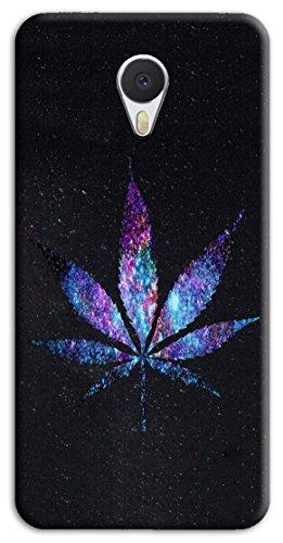Mixroom - Cover Custodia Case In TPU Silicone Morbida Per Meizu M5S M471 Foglia Di Marijuana
