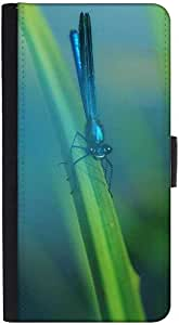Snoogg Blue Dragonfly Designer Protective Phone Flip Back Case Cover For Xiaomi Redmi Note 3