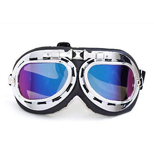 SDGDFXCHN Helm Steampunk Vintage Brille Sonnenbrille für Outdoor-Sportarten Motocross Racer